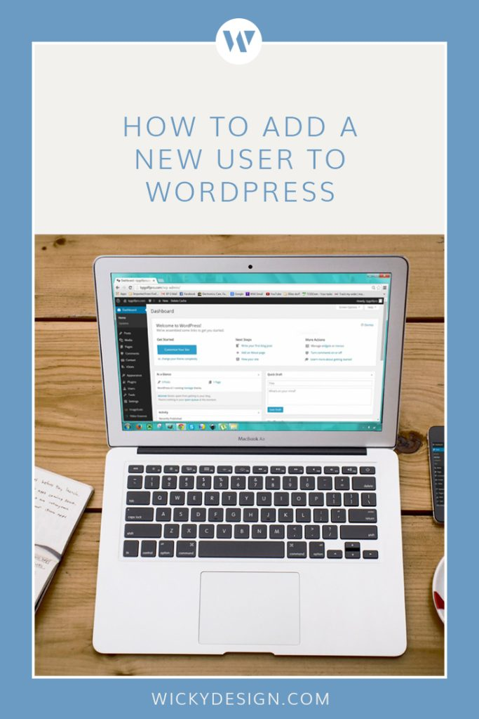 How to add a new user to WordPress.