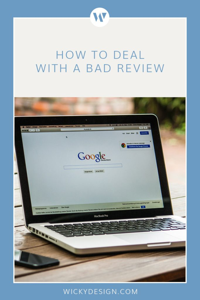 No one likes a bad review. This post gives you tips on how to deal with them professionally.