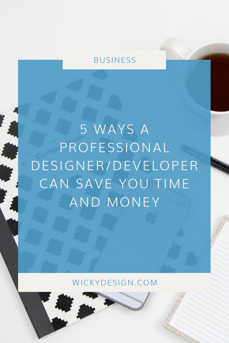 5 ways hiring a professional web designer/developer will save you time and money.