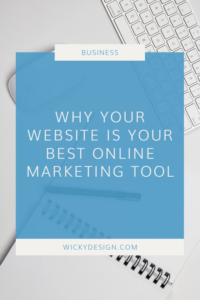 Why your website is the best online marketing tool.