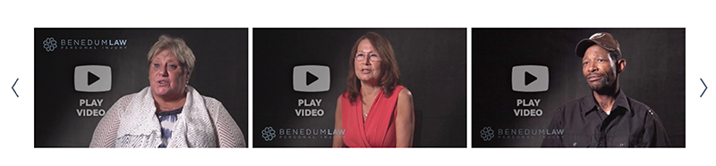 Video testimonials- Benedum Law
