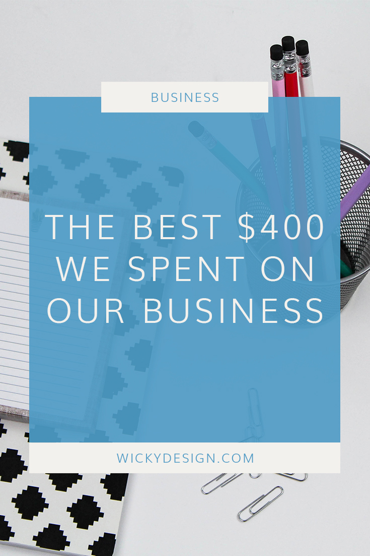 The best $400 we spent on our business