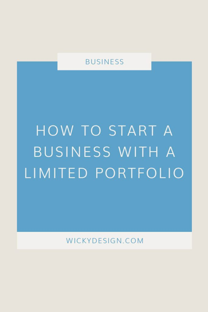 How to start a business with a limited portfolio