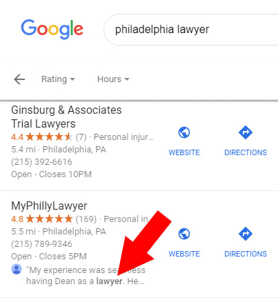 Philadelphia Lawyer Search Results