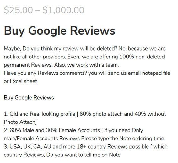 Google Reviews Scam