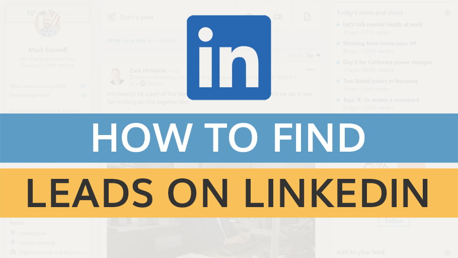 how to find leads on linkedin