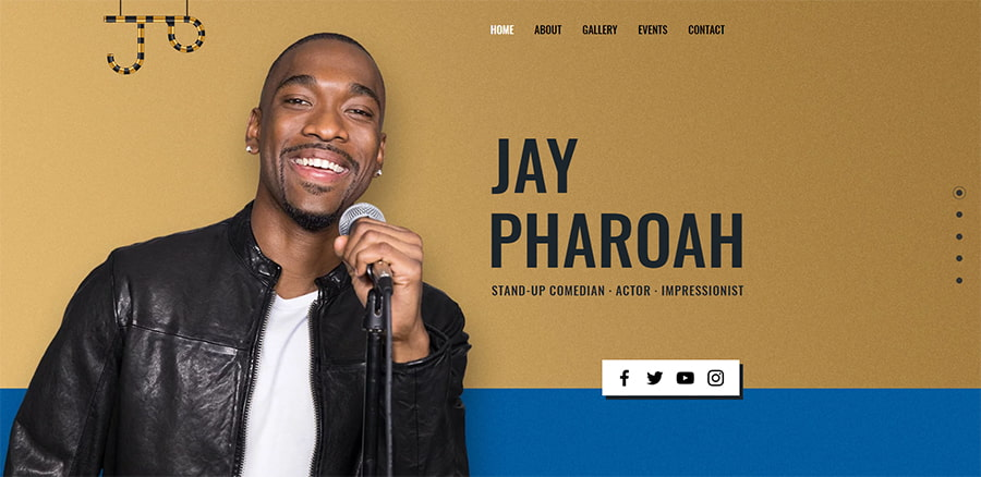 Jay Pharoah Website Wix