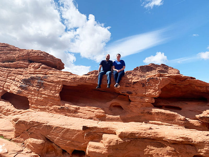 Mark and Barbara at Valley of Fire State Park in Nevada