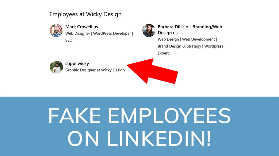 Fake employees on Linkedin