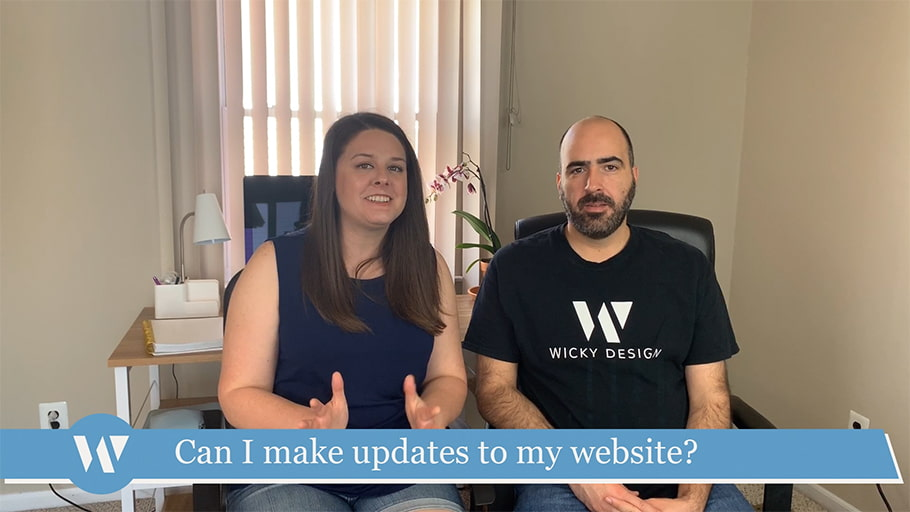 Can I make updates to my website?