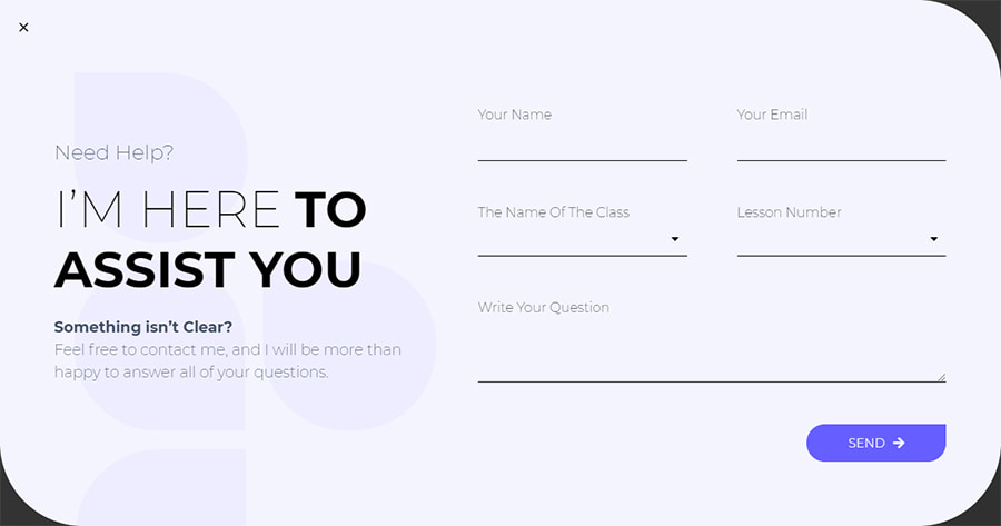 Contact Form Pop-Up