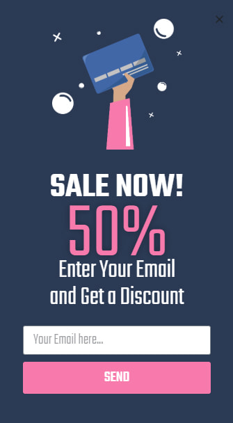 Sale Pop-Up Example
