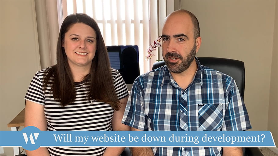 Will my website be down during development?