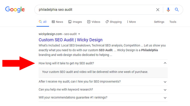 FAQ Rich Snippet
