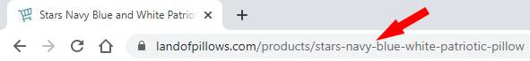 Stars Pillow URL Example