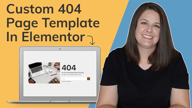 404 template Elementor tutorial