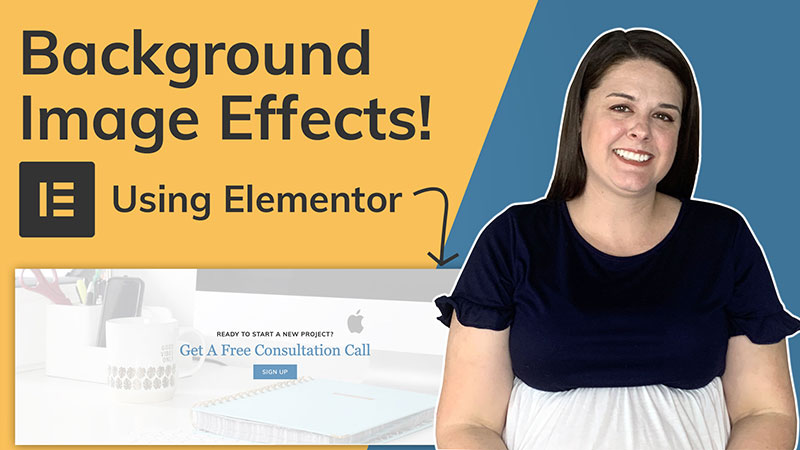 background image effects using Elementor