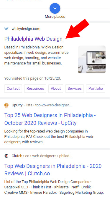 Short Page Titles SEO