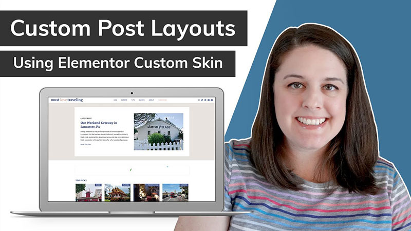 custom post layouts using Elementor Custom Skin