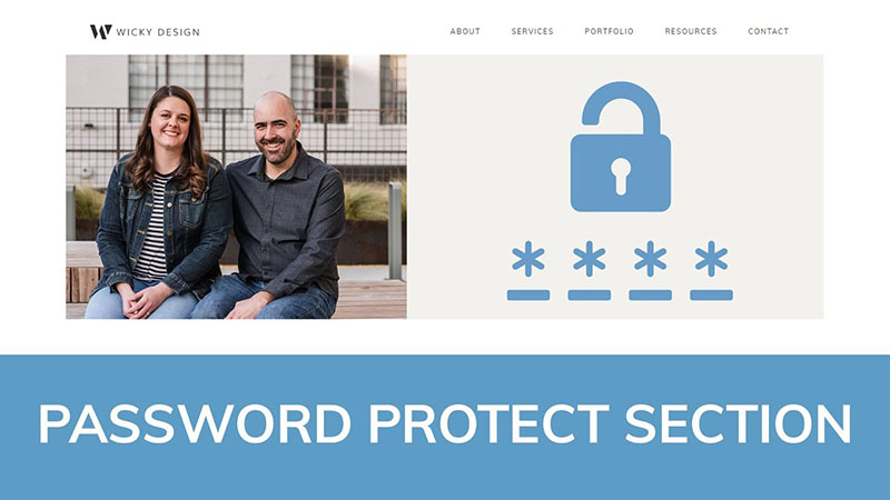 password protect a section of your page