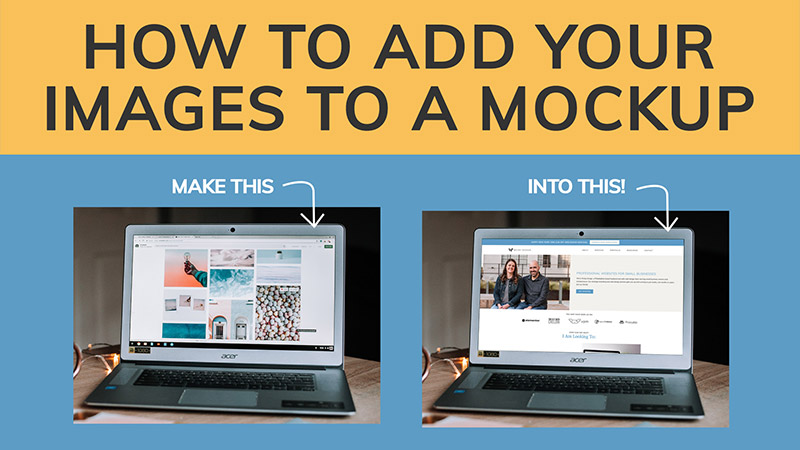 How to add your images to a mockup