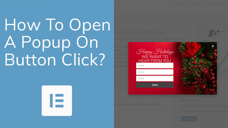 How To Open A Popup On Button Click
