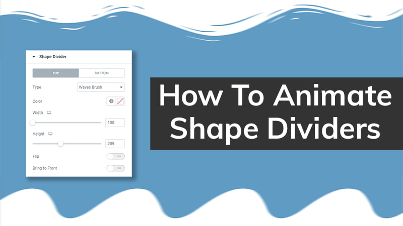 How To Animate Shape Dividers [Elementor Tutorial]