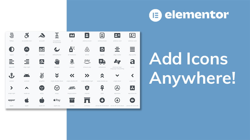 Add Icons Anywhere In Elementor