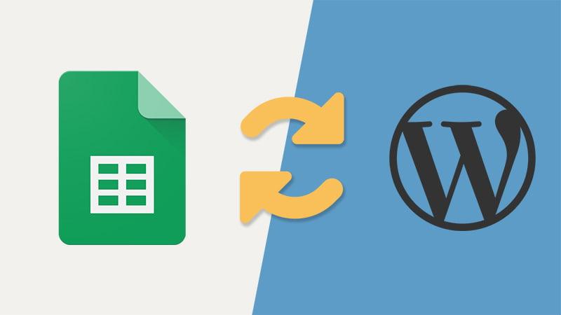 Import Google Sheets To WordPress